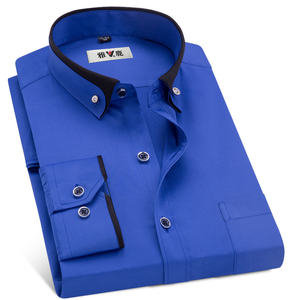 Gratis Verzending Hotsale Lange Mouwen Business Casual Formele Dress Shirt Mannen Custom