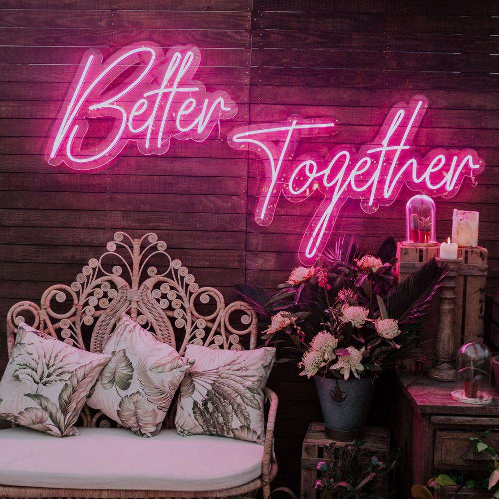 Outdoor custom acrylic led neon light letters sign romantic neon sign for wedding decoration