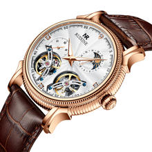 china most popular products diamond genuine leather watch skeleton tourbillon wristwatches automatic mechanical watches for men