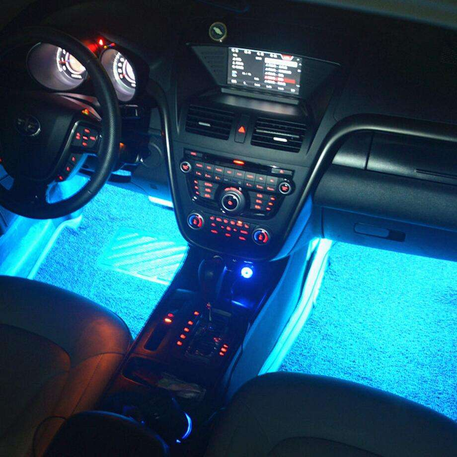 Neon Undercar Glow light/Underglow/Show Car Lights Kit - LED Strip Underbody Kit With Car Charger