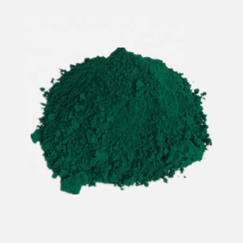 Pigment green 7 is used for dyeing of paint, ink, plastics, rubbers, pigment printing,etc.