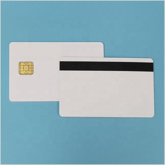 Original J2A040 40K JAVA CHIP CARD With 2T Hico Magstripe for payment & id cards