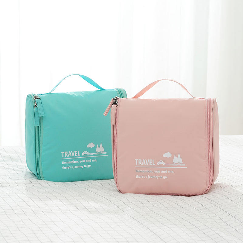 Wholesale hanging travel bag organizer toiletry bag custom LOGO portable laundry wash mesh bag with hook for travel waterproof