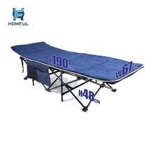 HOMFUL Iron frame folding cot OEM outdoor camping sleeping bed portable folding army camping bed