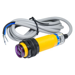ODOELEC M18 Photoelectric switch E3F-DS30C4 30cm adjustable detection distance diffuse sensor DC three wire NPN NO