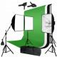 Photography Boom Stand Softbox Four Head light With Muslin Backdrop Kit For Video Studio