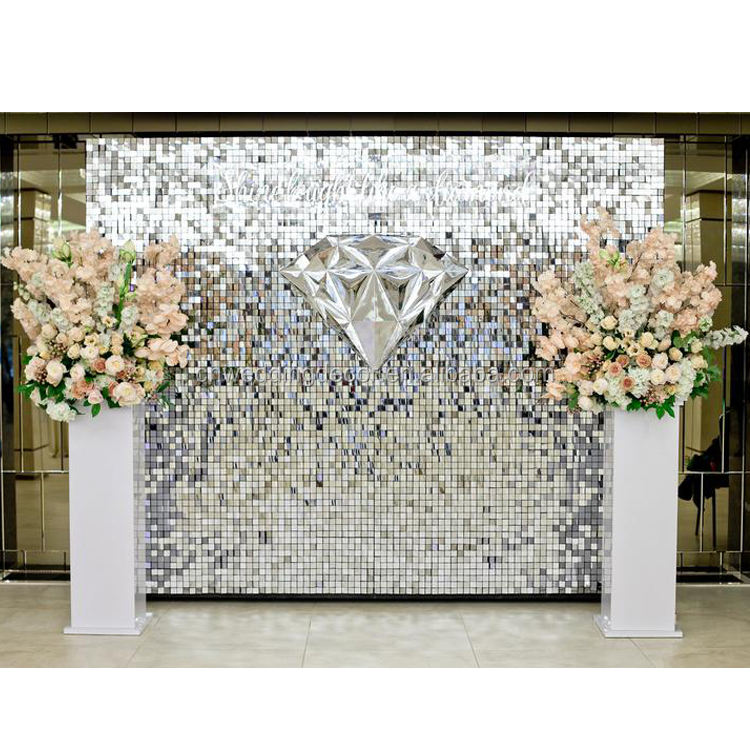 Shimmer Sequin Air Active Panel Sequin Wall for Wedding Event Backdrop