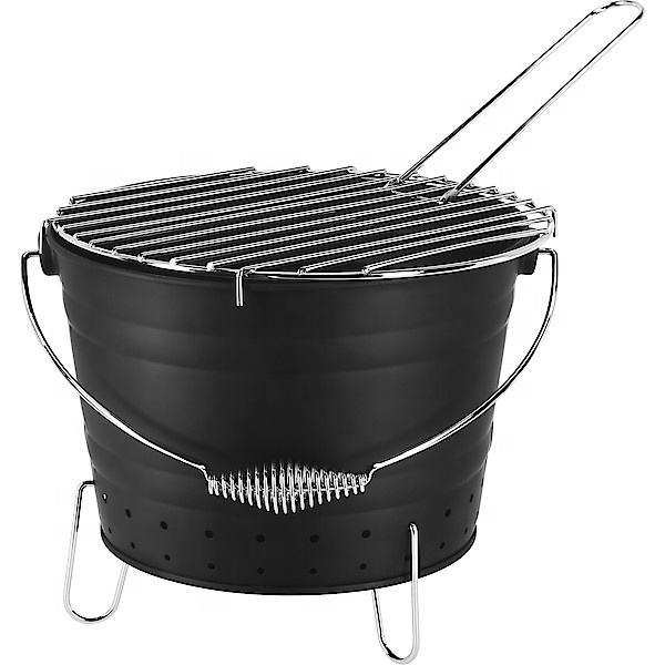 Outdoor Bucket Portable Charcoal BBQ Grill