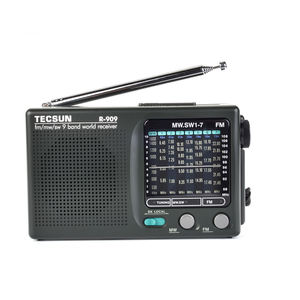 TECSUN R-909 fm/mw/sw 9 bands World Band Receiver cheap Portable Radio digital Radio fm with usb