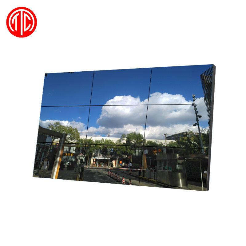 55 pollici ultra sottile cornice 1.8 millimetri UHD 4K smart TV flessibile di buona qualità led/<span class=keywords><strong>lcd</strong></span> tv 3x3 parete video a cristalli liquidi