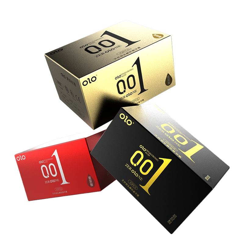 OLO 0.01 condoms Ultrathin Hyaluronic Acid Natural Latex Condoms price for men condom