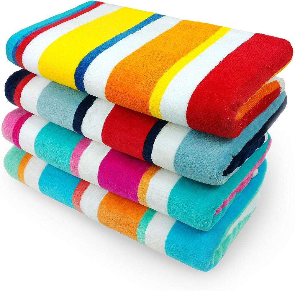 Microfiber Cabana Striped Large Beach/Pool/Bath Towel for Adults (30
