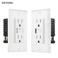Keygma Smart Socket and Switch Wall Socket with Wifi and USB