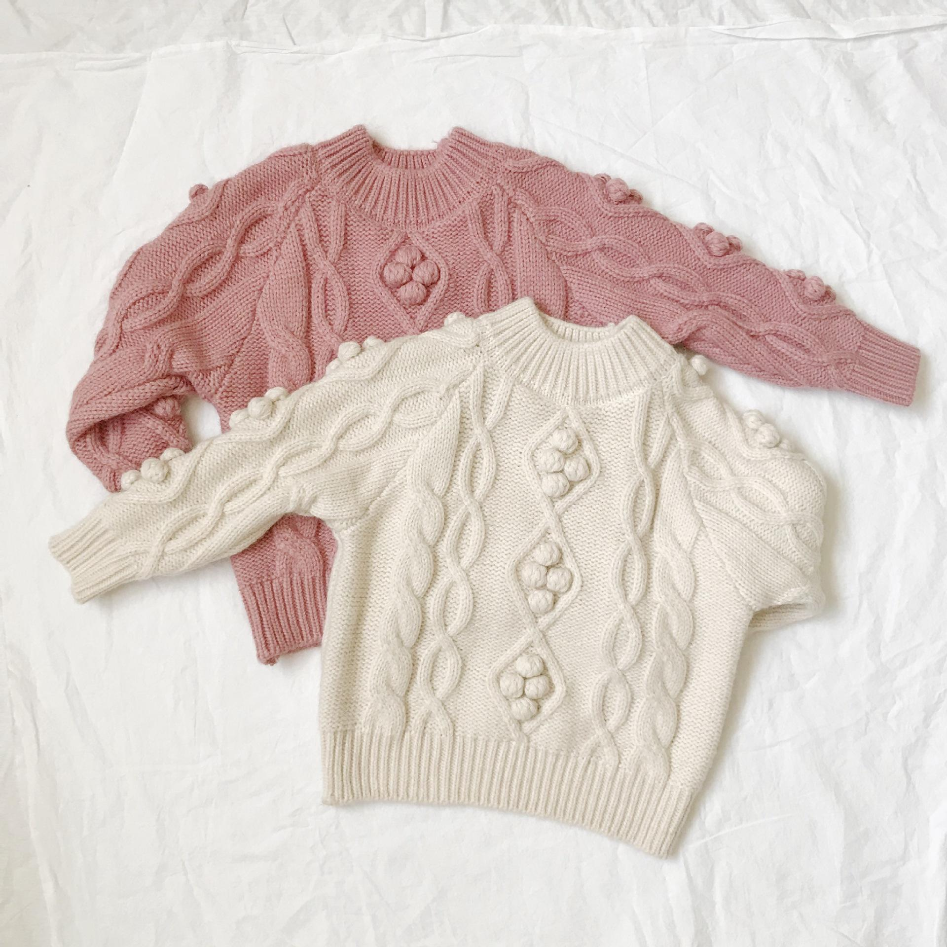 fashion girls baby sweater design hand knitted wholesale