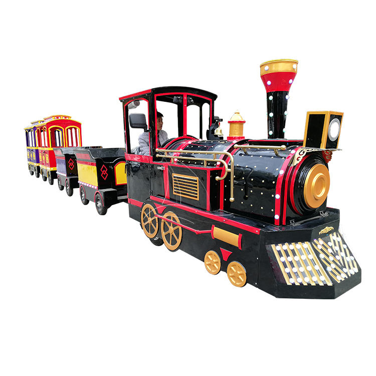 Tour Trackless Road Electric Sightseeing Big Tourist Train for sale