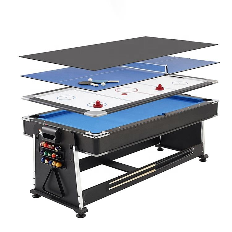 Fabriek Direct Draaibaar 4 In 1 Multi Game Snooker Biljart Tafels