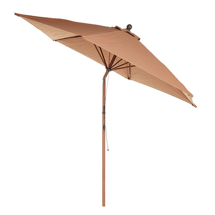 Sun shade Outdoor Casual <span class=keywords><strong>Sonnenschirm</strong></span> Kippbares Zugseil <span class=keywords><strong>Holz</strong></span> Gartens chirm