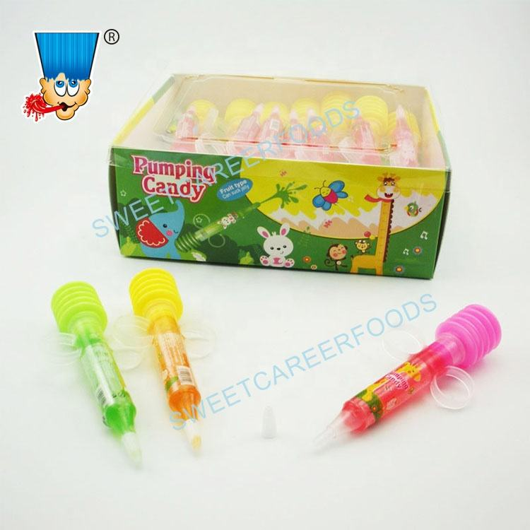 syringe needle injection fruit jam pumping liquid candy gel