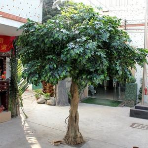 Large Outdoor Plastic Fake Green Ficus Artificial Banyan Tree for Home Decoration