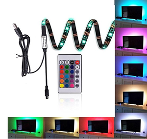control remoto led rgb tira de 90 cm | Tira de 5050 Usb para retroiluminación de Tv Led Lg, Color RGB, un solo Color