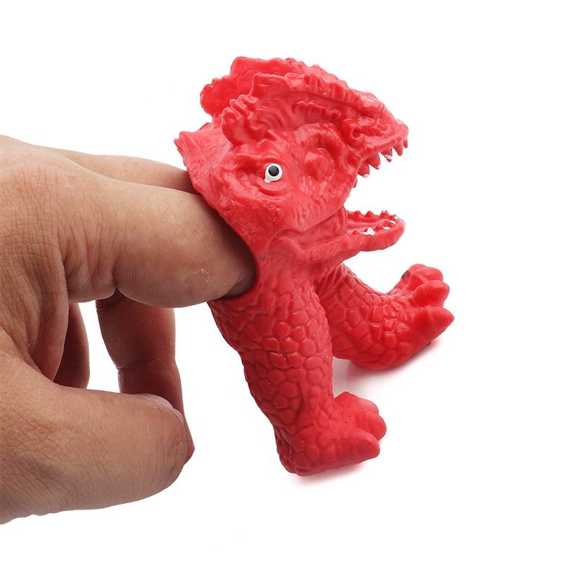 Patented Design Superstar OEM Factory TPR Soft Plastic Dinosaur Animal Hand Puppet