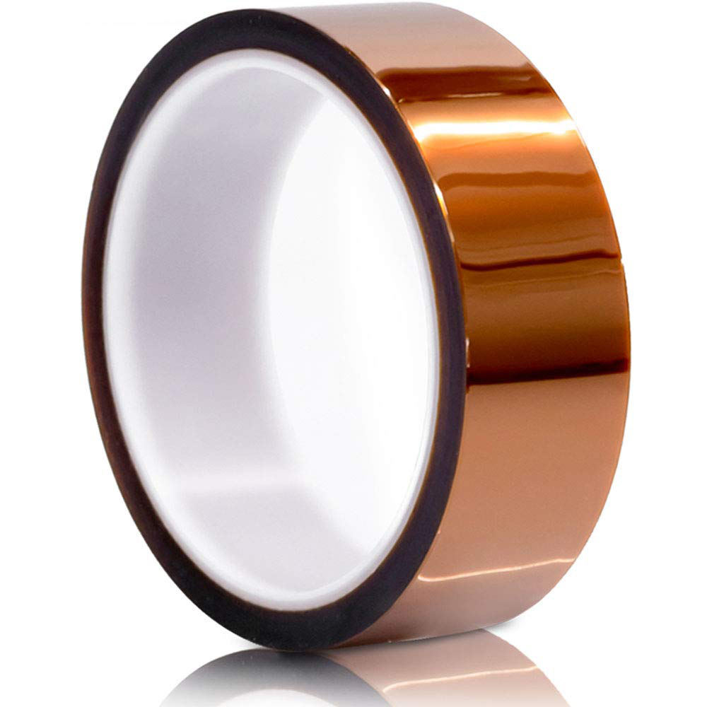 Kapton Tape Heat High Temperature Resistant Adhesive Gold Tape for Electric Task 33m x 12mm