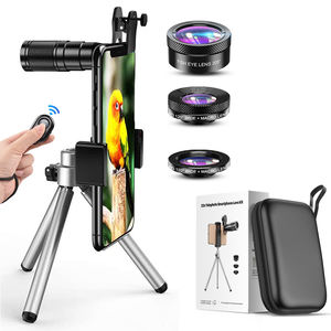 APEXEL Cell Phone Camera Lens Universal Kit 4 in 1 22X Mobile Phone Monocular Telescope Wide Angle Macro Fisheye Lens for iPhone