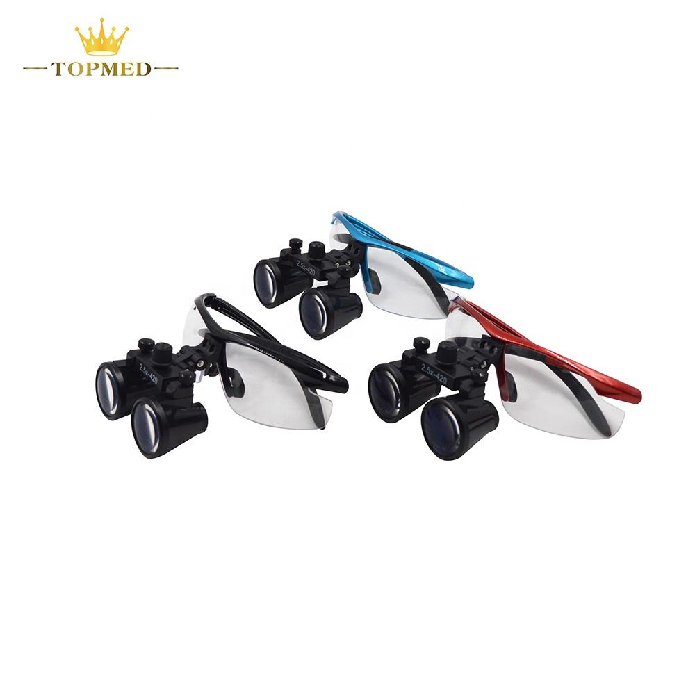 Dental Loupes Magnifier Medical Surgery Loupe 2.5X3.5X Binocular Loupes LED Dental Head Light
