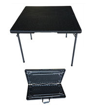 Factory Direct Supply Wholesale Black Portable Outdoor 35inx35in Square Table