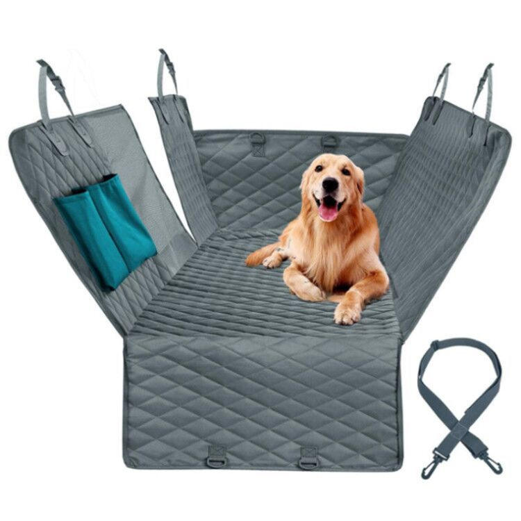 Washable Waterproof Oxford Grey Green Pocket Zipper Dog Car Hammock Mat Pet Mesh Window Dog Car Seat Covers