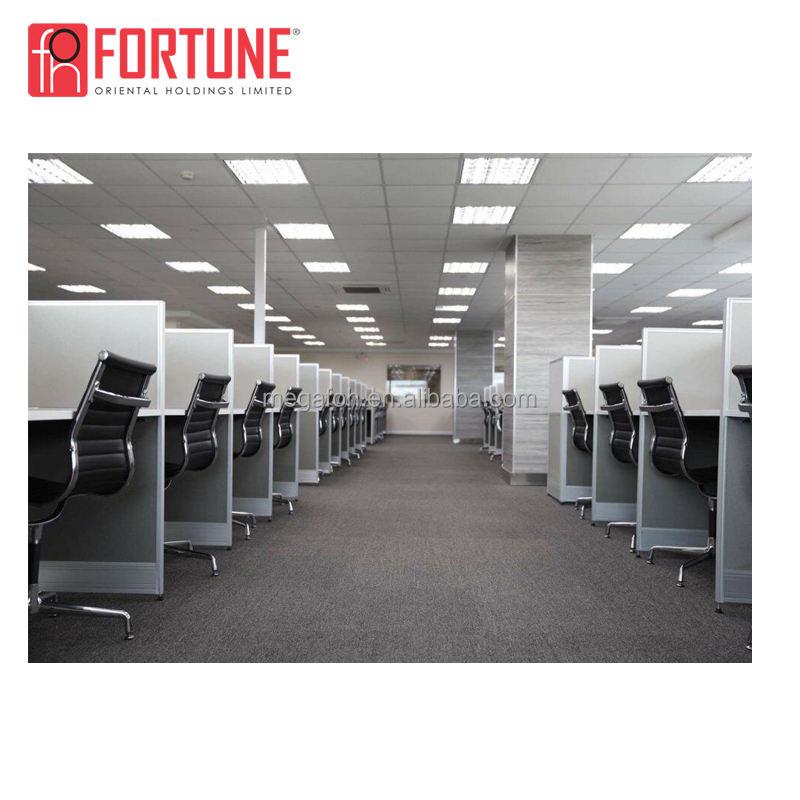 Moderno 6 persona cubículo cluster envío combinación Oficina estación layout
