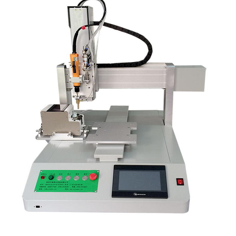 Electronic Single Bit Single Lock Plate Screw Fixing Tightening Machine with One Screw Dispenser