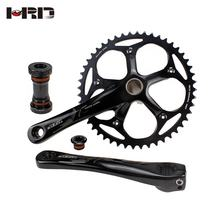 Hot sale crank arm 165mm/170mm BCD 130mm AL-6061-T6 anode black AZ2-AS135 48T/49T tracking/single/fixed gear bike crankset