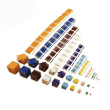 MA139/2  the complete beads set game for kids  mathematics wooden educational mathmatic toys for AMS and AMI