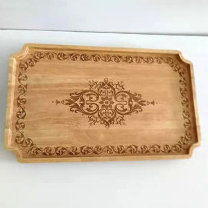 Square Small Hand Made Craving Bamboo Food Drink Serving Tray