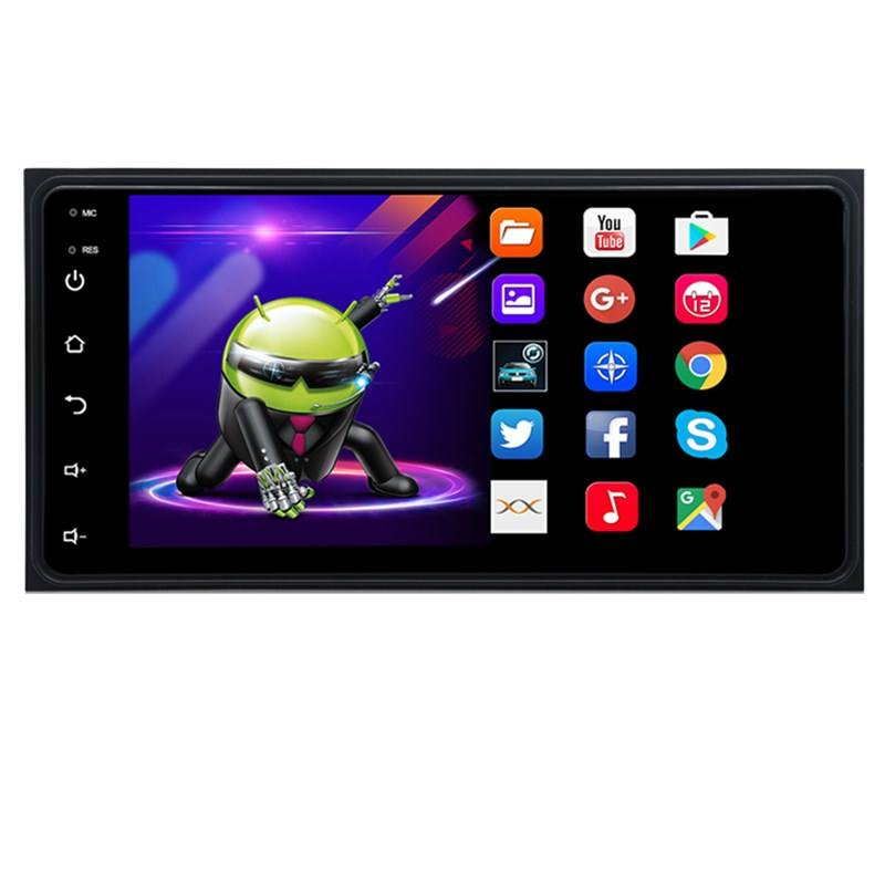 2 din universal Android touch screen car radio with Audio stereo multimedia GPS navigation for toyota auto