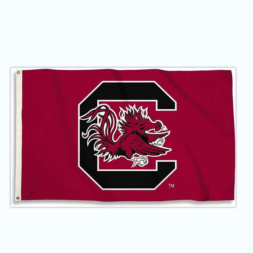 Custom 3 X 5 Foot NCAA College South Carolina Fighting Gamecocks Flag with Grommets