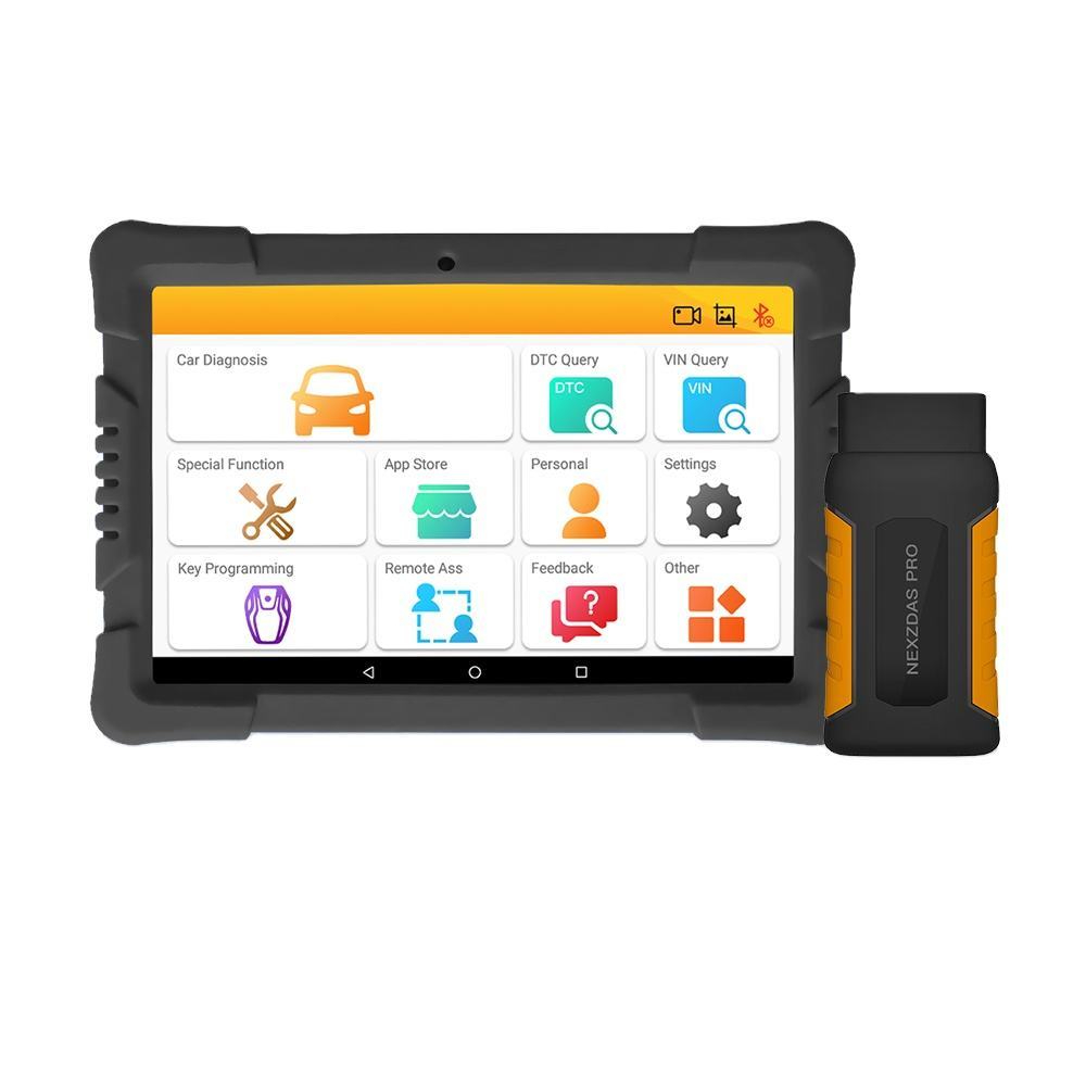 Diagnostic Scanner HUMZOR NexzDAS Pro Bluetooth 10inch Tablet Full System Auto Diagnostic Tool Professional OBD2 Scanner Car Code Reader