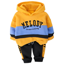 latest design letter hoodie sweatersuit boy's clothing sets baby