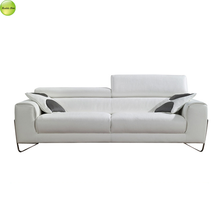 modern sofa, stainless metal Italian leather 321 modern leather sofa from chinese sofa manufacturer