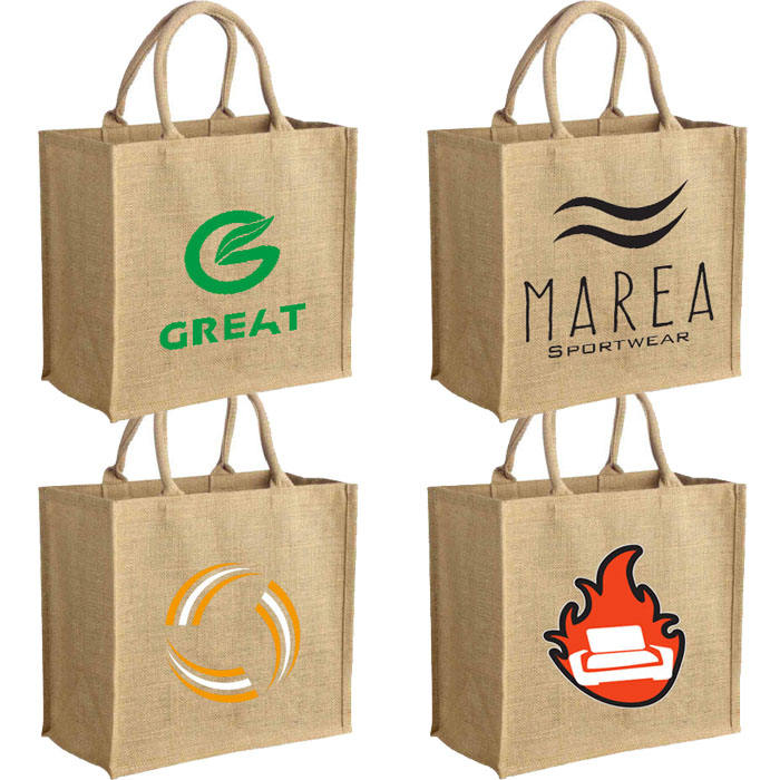 Wholesale Natural Eco-friendly Shopping Carry Jute Tote Bag