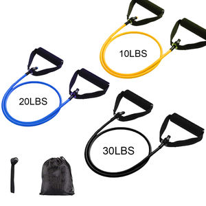 Wholesale workout fitness Gym pull up latex resistance tube band set with handle