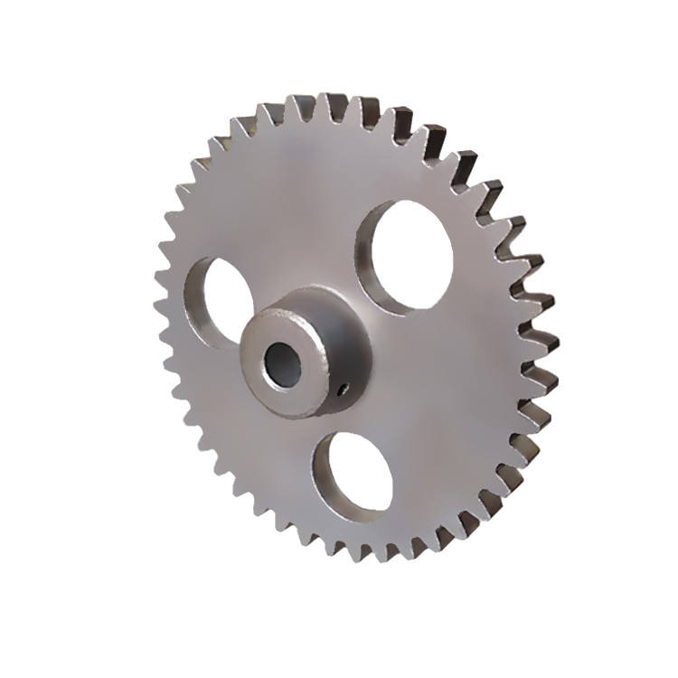 Powder Metallurgy Wheel Manufacturer 1.75M 41T Metal Steel Drive Spur Gear With 3 Edge Hole