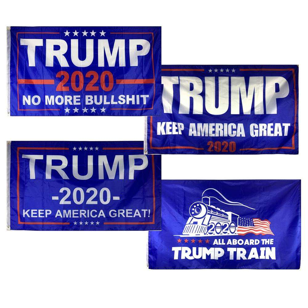 12h Fast Delivery 3x5Fts 100%Polyester TRUMP Flags Banner 2020 Tank Donald Trump Flag