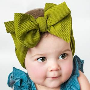 Big Bow Velvet Head Wrap Girls Spring 2020 Kids Velvet Turban Headband Girls Floppy Bow Baby Headband