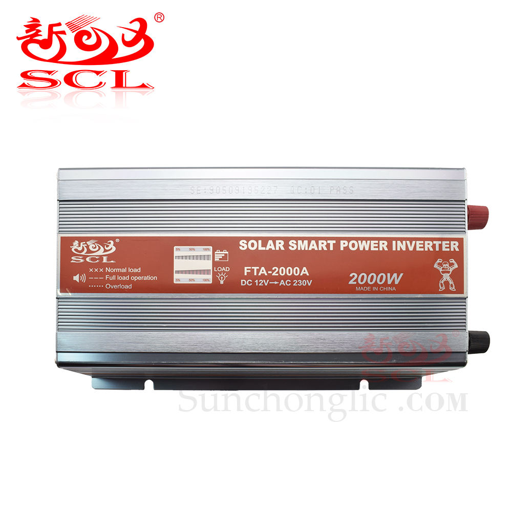 Sunchonglic smart 2kw dc to ac 12v 220v 2000w inversor solar power inverter