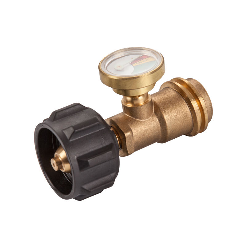 Solid Brass QCC POL Adapter Contents Level Pressure LPG Propane Gas Gauge for Gas Tank Cylinder