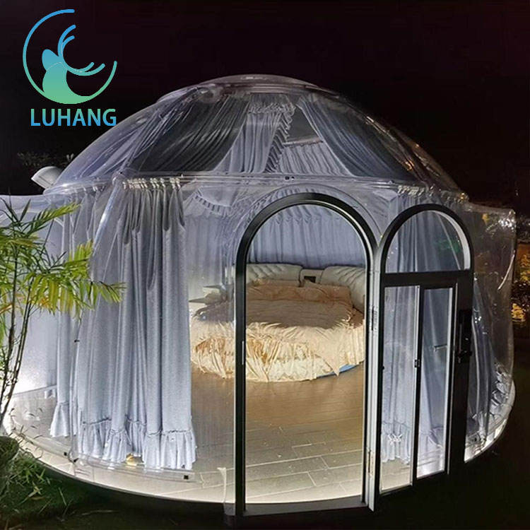 Lh-Draagbare Mobiele Outdoor Camping Met Kamers <span class=keywords><strong>Huur</strong></span> Bubble Hotel Room Dome Tent