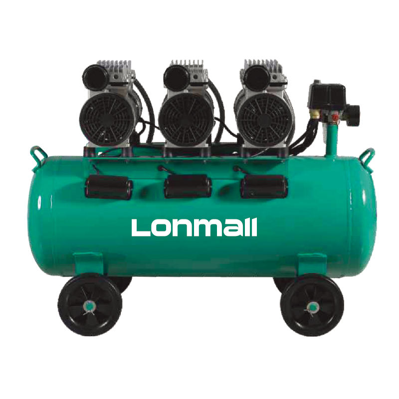 LM-16570 3HP 220V Small Three Pumps Oil-free Portable Piston Silent Electric Air Compressor