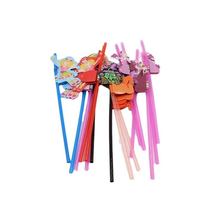 Amazon Hot Sale Disposable Plastic Colored Straws For Party